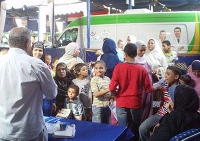 قافلة طبية لعلاج أهالي قرية سيدي عبد الرحمن بمطروح
