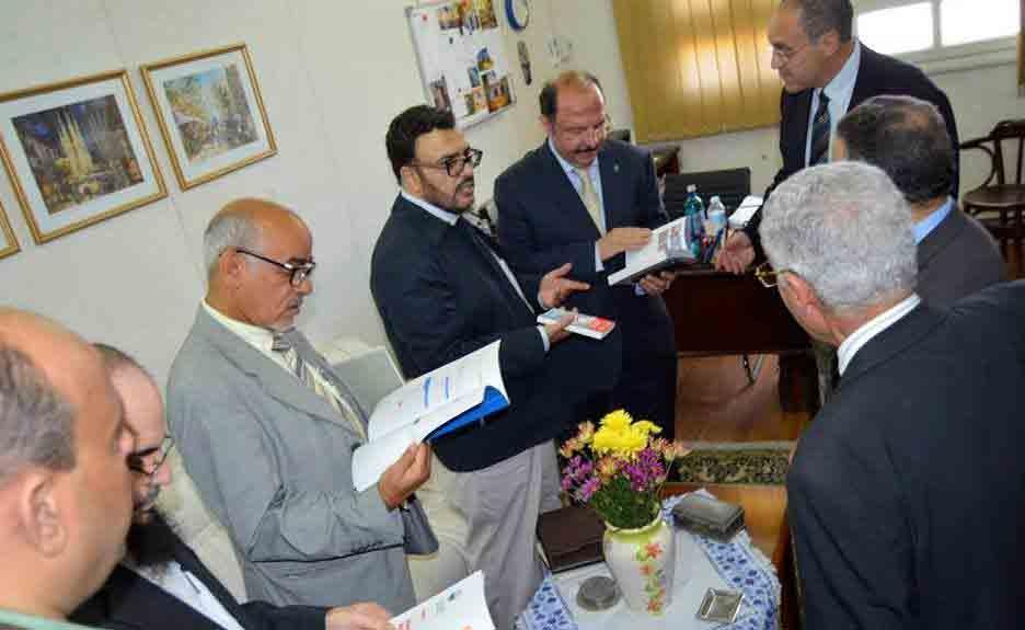 زيارة الهيئة السعودية للتخصصات الطبية للقاهرة واستقبال النقابة لهم